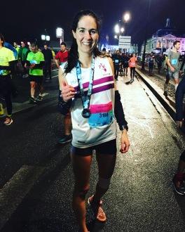 Semi Marathon Bordeaux juste apres une pause de la course